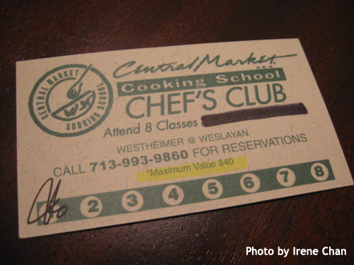 I got my Central Market Chef's Club card!